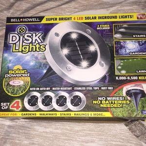 Disk Lights  Solar Inground
